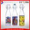 500ml kundenspezifische trinkende Saft-Wasser-Glasflasche mit Klipp-Kappe