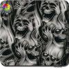 Пленка печатание перехода воды зомби пламени черепа ширины Tsautop 0.5m гидрографическая окуная