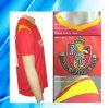 100%年のポリエステル人の短い袖のサッカージャージー