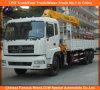 10の車輪のDongfengのトラックはクレーンDongfengの材木のローディングクレーンXCMGトラックによって取付けられたクレーンを取付けた