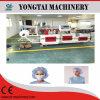 Einzelne elastische und doppelte elastische nichtgewebte Streifen-Schutzkappe, die Maschine herstellt