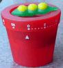 Material plástico del contador de tiempo del mecánico de la forma del cubo de la flor