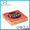 Caja de embalaje de la insignia de la impresión de cartulina acanalada de la pizza de encargo del papel