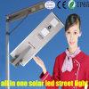 Intégrer la lumière solaire de lampe de DEL pour la rue, avec le panneau solaire