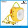 La lanterne 2016 12-LED solaire de vente la plus chaude avec le chargeur de téléphone mobile et la batterie d'acide de plomb