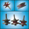 Idler inoxidable Pulley pour Coil Winding Machine (Flanged Ceramic Pulley)
