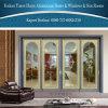 Большое изготовление для раздвижной двери серого цвета алюминиевой с украшением