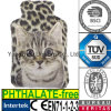 Coperchio caldo della peluche della bottiglia di acqua della pelliccia falsa del leopardo