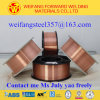produto contínuo da soldadura do fio de soldadura do carretel 15kg/D270 plástico de 0.8mm com Er70s-6