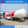 Трейлер бака трейлера 56m3 LPG бензобака Tri-Axle 25t LPG для Нигерии