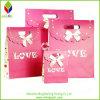 Sac cosmétique de mode de papier de cadeau neuf de Valentines avec le traitement de trou