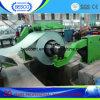 Máquina de Recoiler de la hoja de acero con el coche del cargamento