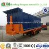Het Achtergedeelte dat van China 45FT 3axle Flatbed Semi Aanhangwagen van de Container tipt