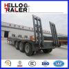 三車軸半50トンの掘削機の運送者の低いベッドのトレーラー