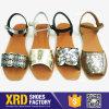 Глянцеватые кожаный ботинки сандалии с пряжкой