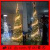 Árvore de Natal espiral artificial do diodo emissor de luz da decoração ao ar livre