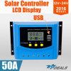 50A LCD van het Controlemechanisme van de Regelgever van de Last van USB Zonne12V 24V Vertoning PWM