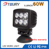 60W 5.2 Luz de trabajo del cuadrado LED para el carro