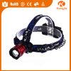 값싼 판매 섬광 빛 헤드 램프 플라스틱 LED Headlamp