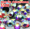 Rhinestones da parte traseira lisa no Rhinestone não quente do reparo do Ab do cristal de Bluk Ss20 (FB-ss20 cristal ab/4A)