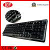 Multimedia teclado USB Djj219 con retroiluminación teclado de computadora con cable