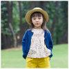 100% 모직 뜨개질을 하거나 뜨개질을 한 파란 소녀 카디건 스웨터