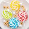 Caramella dura del Lollipop di turbinio dolce della frutta del Rainbow