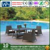 Rattan-im Freienmöbel-Tisch-Stuhl/Speisen der Weidentisch-Stuhl-Garten-Möbel (TG-JW68)