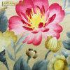 Tissu imprimé floral tricoté de sofa de velours