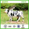 Nuova statua della mucca della resina del giardino del basamento del bestiame di Hotsale (NF86178)