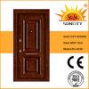 PVC Door del MDF di Steel Armored Board di obbligazione con Veneer (SC-A236)