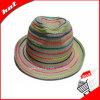 Chapéu de Panamá de papel das mulheres do chapéu do Fedora da palha