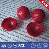 Esfera oca plástica decorativa contínua de nylon vermelha (SWCPU-P-B077)