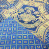 De luxe Traditionele Jacquard Geweven Blauwe Stof van de Bank van de Stoffering