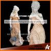 Scultura di pietra naturale delle statue delle fontane belle della ragazza