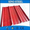 Folha galvanizada corrugada da telhadura do metal da telhadura do zinco folha revestida