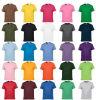 각종 색깔, 크기, 물자 및 로고에 있는 도매 주문 면 t-셔츠