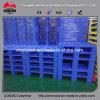 Pallet della plastica del lato del doppio di griglia dell'HDPE del contenitore di memoria