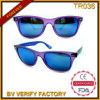 Óculos de sol de Occhiali da cor verdadeira de Tr036 Clubmaster Tr com Revo azul