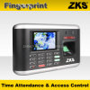 Selling quente Biometric Tempo Attendance com GPRS & Battery Zks-T1