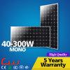 Sistema elevado do painel solar de eficiência 100W mono