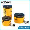 cilindro hidráulico Gato del pistón de la tuerca de fijación de efecto simple de la crepe 60ton