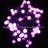 Corda da luz da esfera do globo do jogo da luz da fibra do diodo emissor de luz para a decoração do Xmas