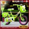Vert vélo de 12 enfants de pouce avec le panier