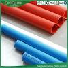 配線のコンジットの赤くか青の管のための電気PVC管