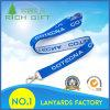 Satin gesponnene Silk Farbband-Stutzen-Abzuglinie mit kundenspezifischem Firmenzeichen