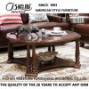 Table basse ronde simple en bois solide de vente chaude (AS838)