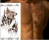 Etiqueta engomada temporal impermeable del tatuaje del diseño del modelo del lobo