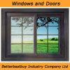 Großhandels-UPVC Fenster der Fabrik-mit Gitter