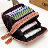Изготовленный на заказ бумажник кожи женщины застежки -молнии двойника владельца карточки портмона монетки кожи Cowhide